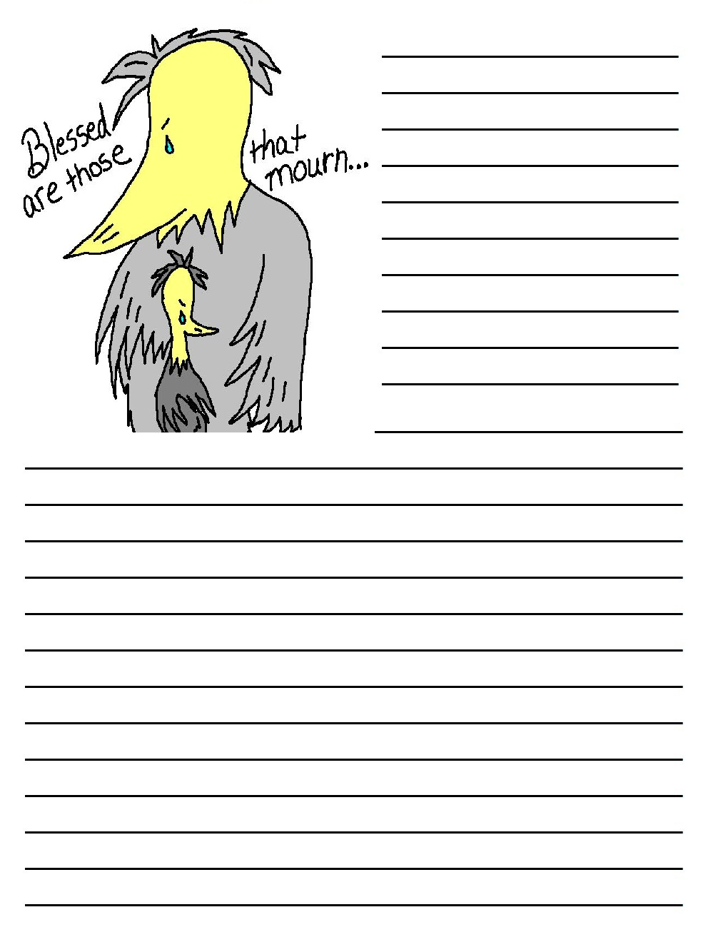 Bird Printable Writing Paper