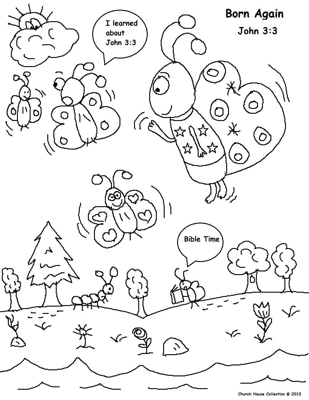 Born Again Bible Coloring Pages
