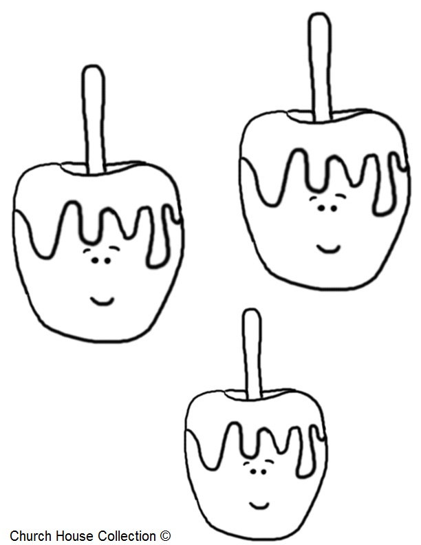 Candy Apple Coloring Pages
