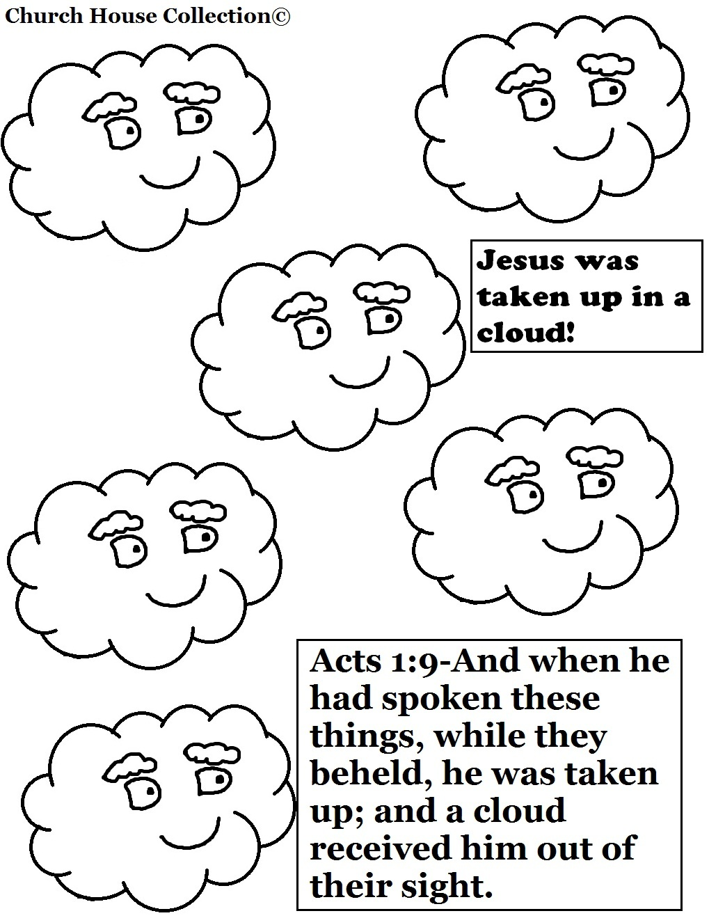 Free jesus on cloud coloring pages