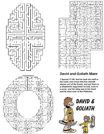 Free David and Goliath Sunday School Lessons For Kids