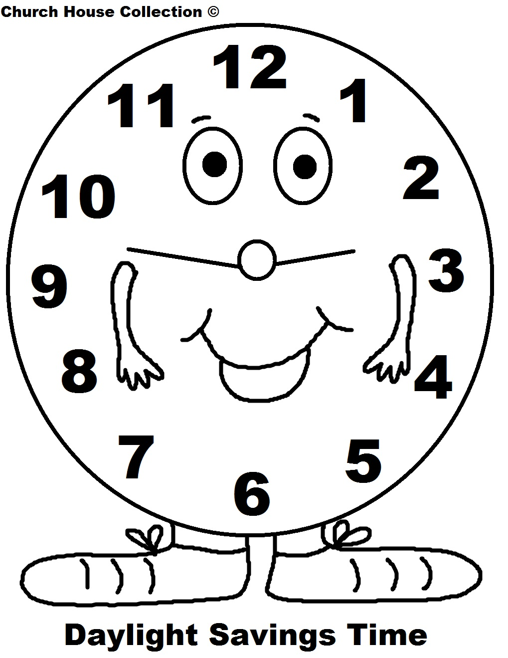 Daylight Saving Time Coloring Pages