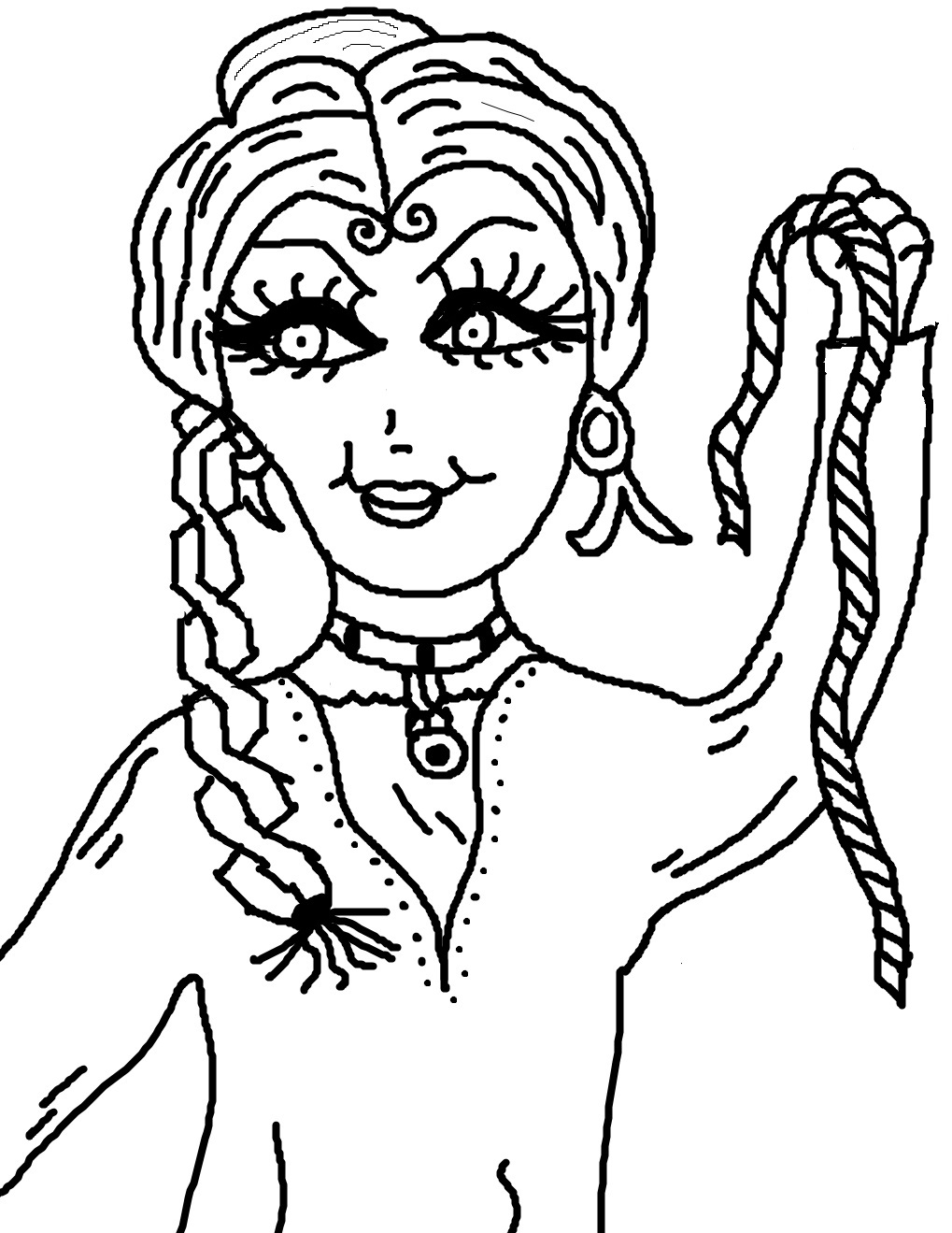 Samson and Delilah Coloring Pages