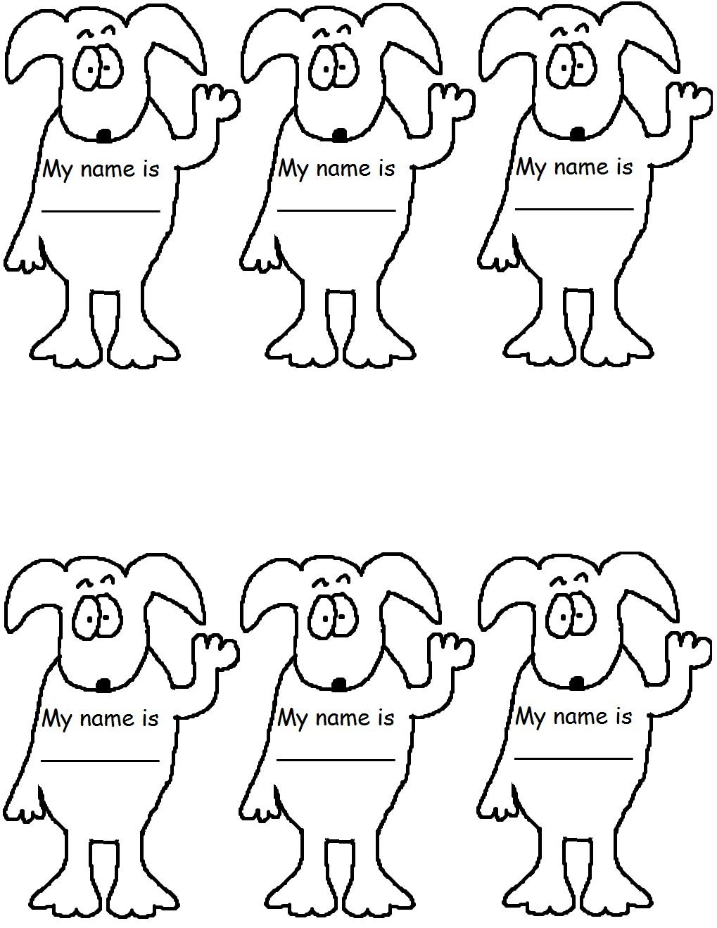 Printable pet tag templates Trials Ireland