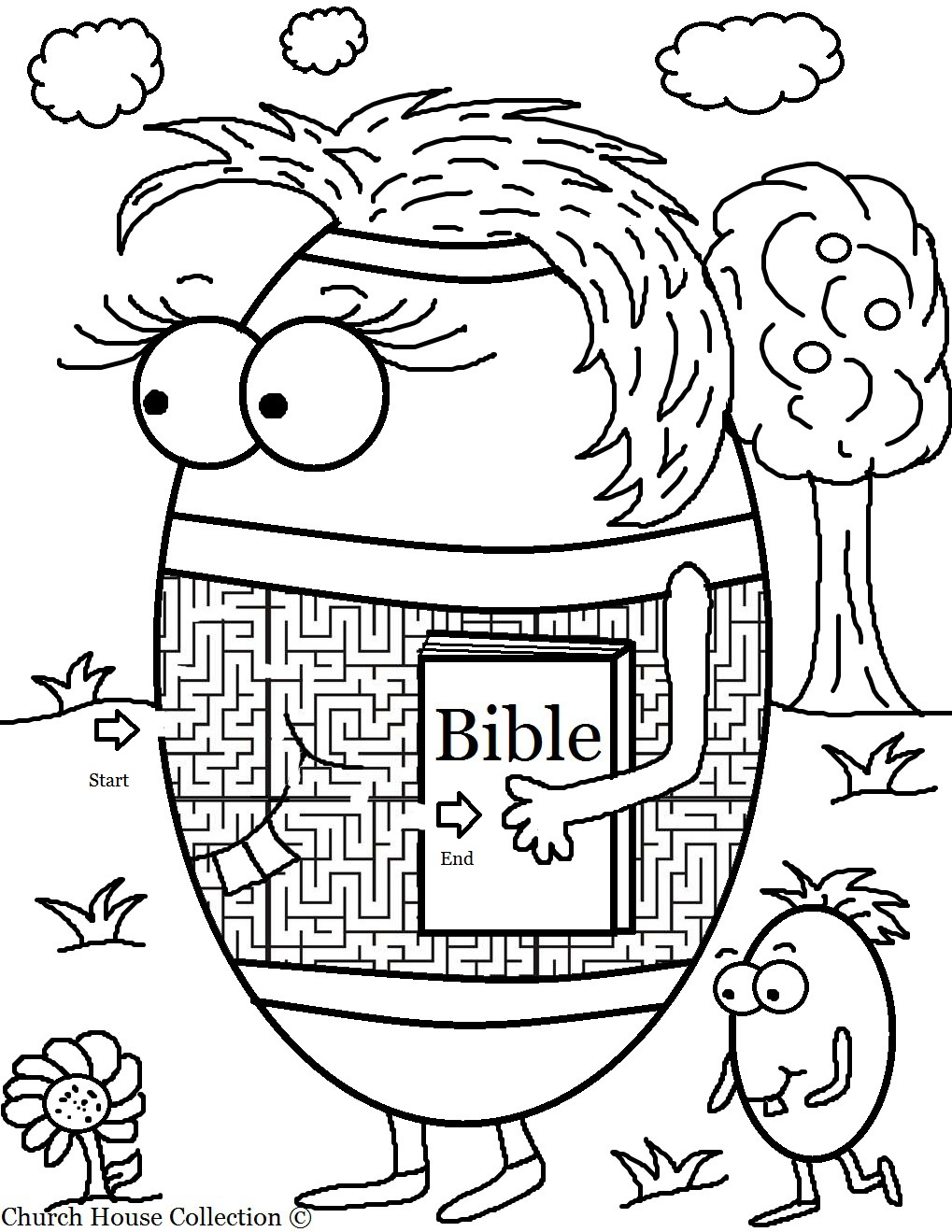 Easter Egg With Bible Maze