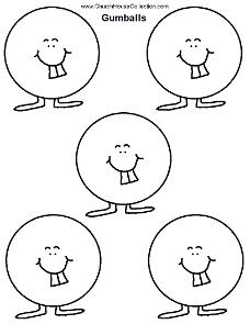 Gumball Template Printables Kindergarten