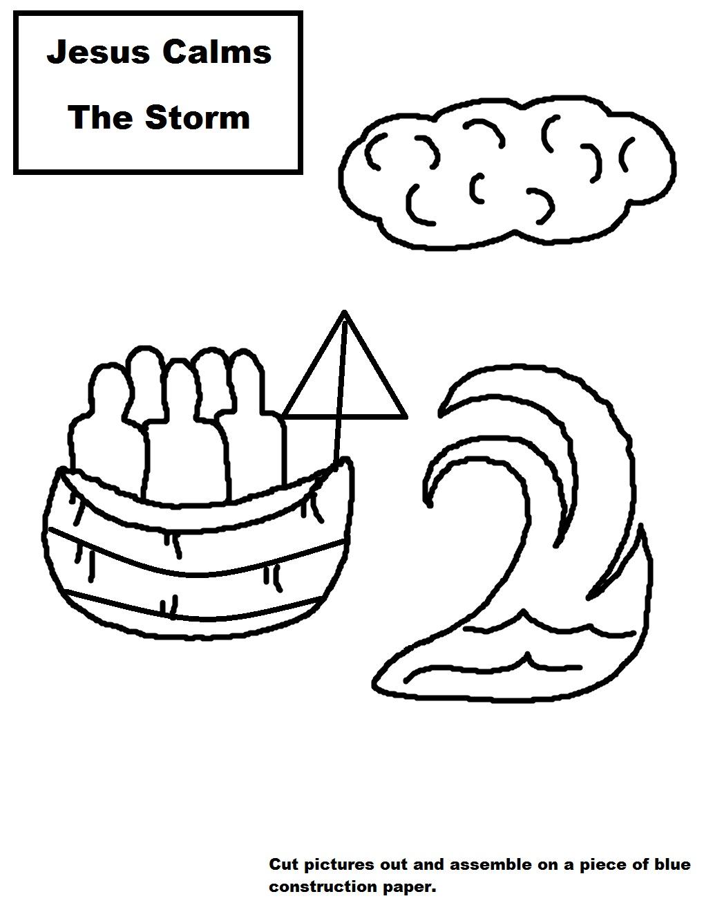 Jesus Calms The Storm Sunday School Lesson
