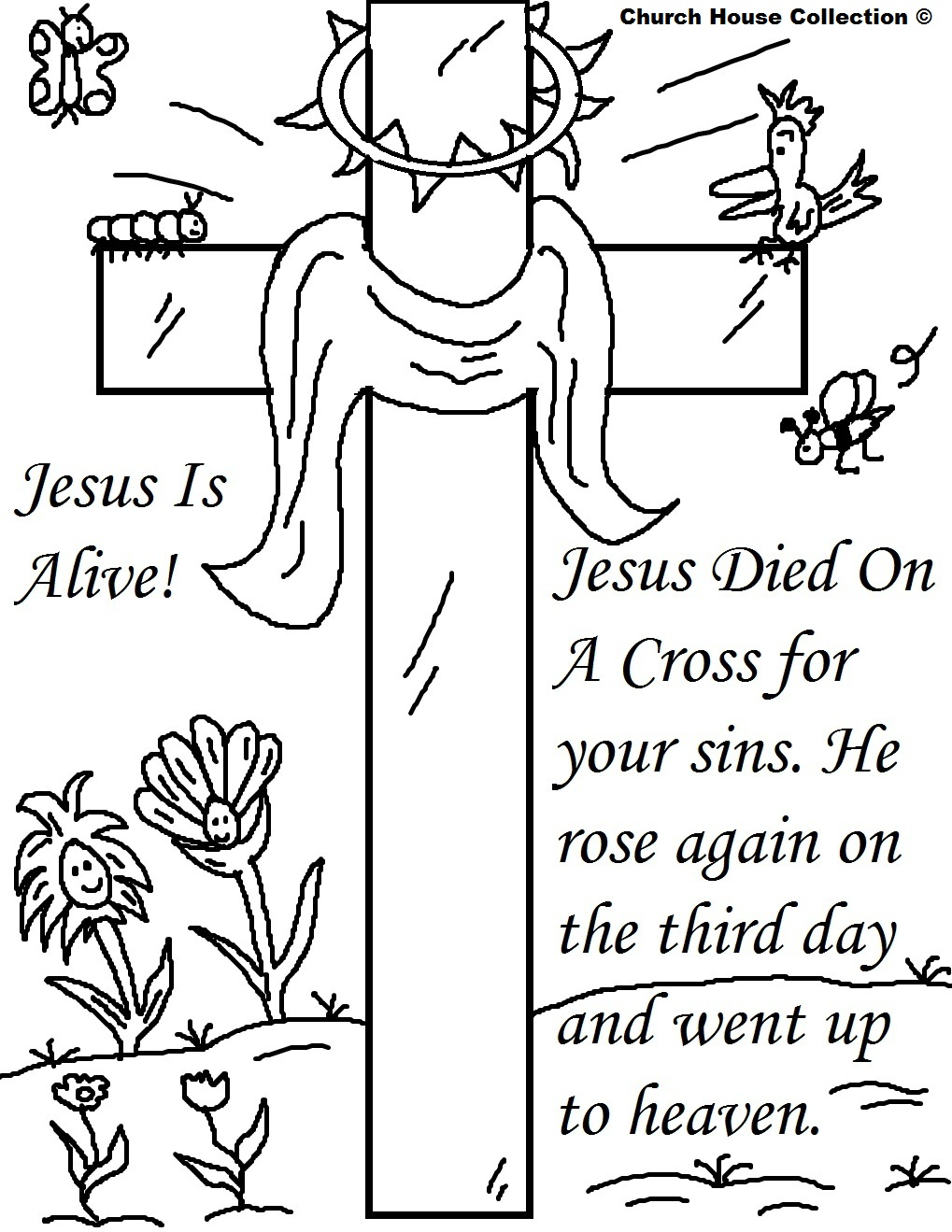 25 Religious Easter Coloring Pages | Free Easter Activity ... | free printable religious coloring pages for easter