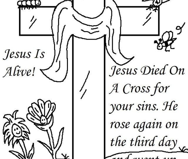 Religious Easter Coloring Pages Free Easter Activity Printables