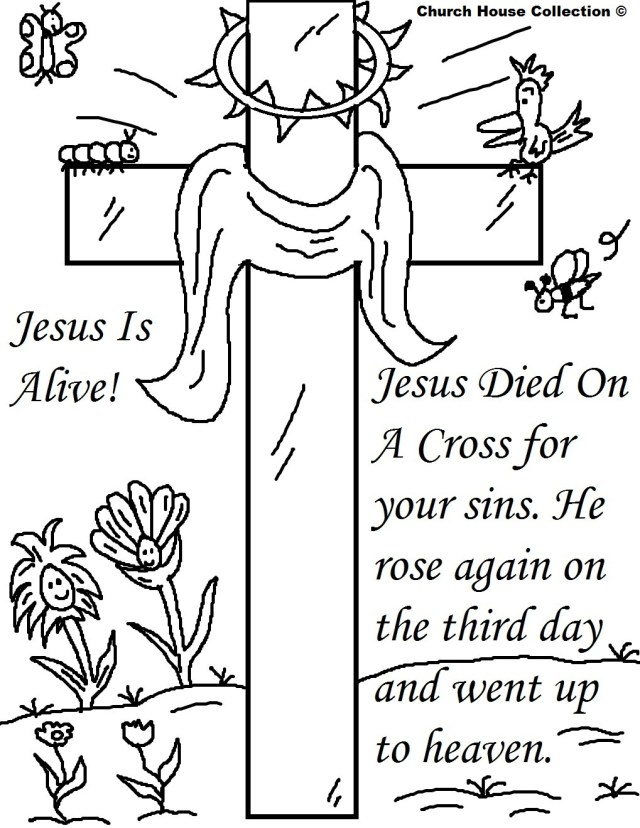 24 Religious Easter Coloring Pages  Free Easter Activity Printables