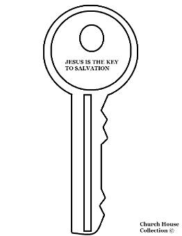 Jesus Is The Key To Salvation Coloring Page