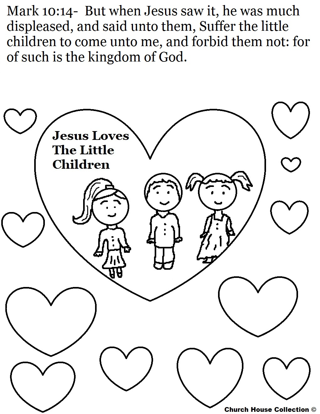 Jesus Loves Children Sunday School Lesson