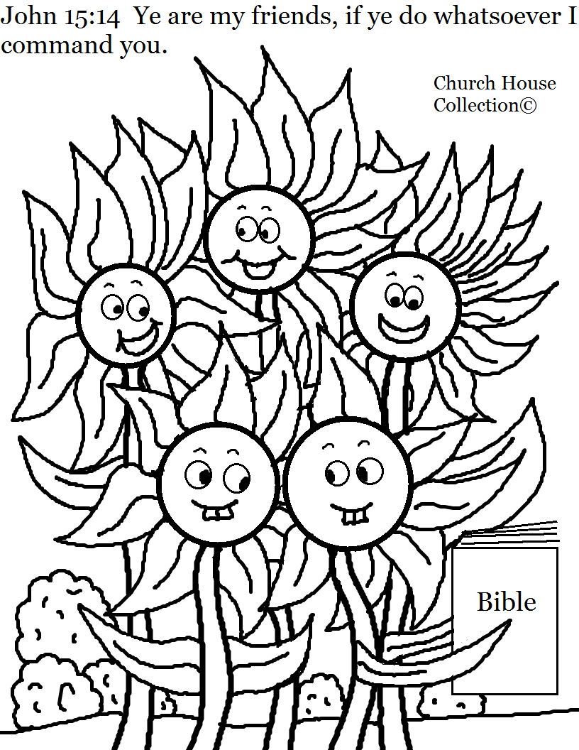Flower Family Coloring Page For Sunday School