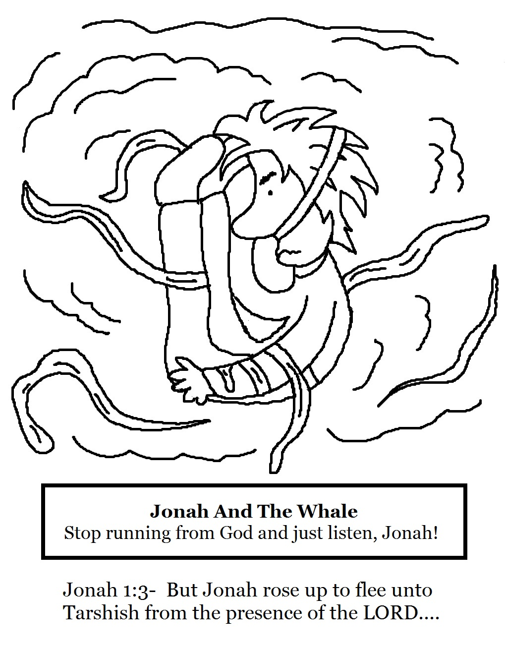 Jonah and The Whale Sunday School Lesson 3