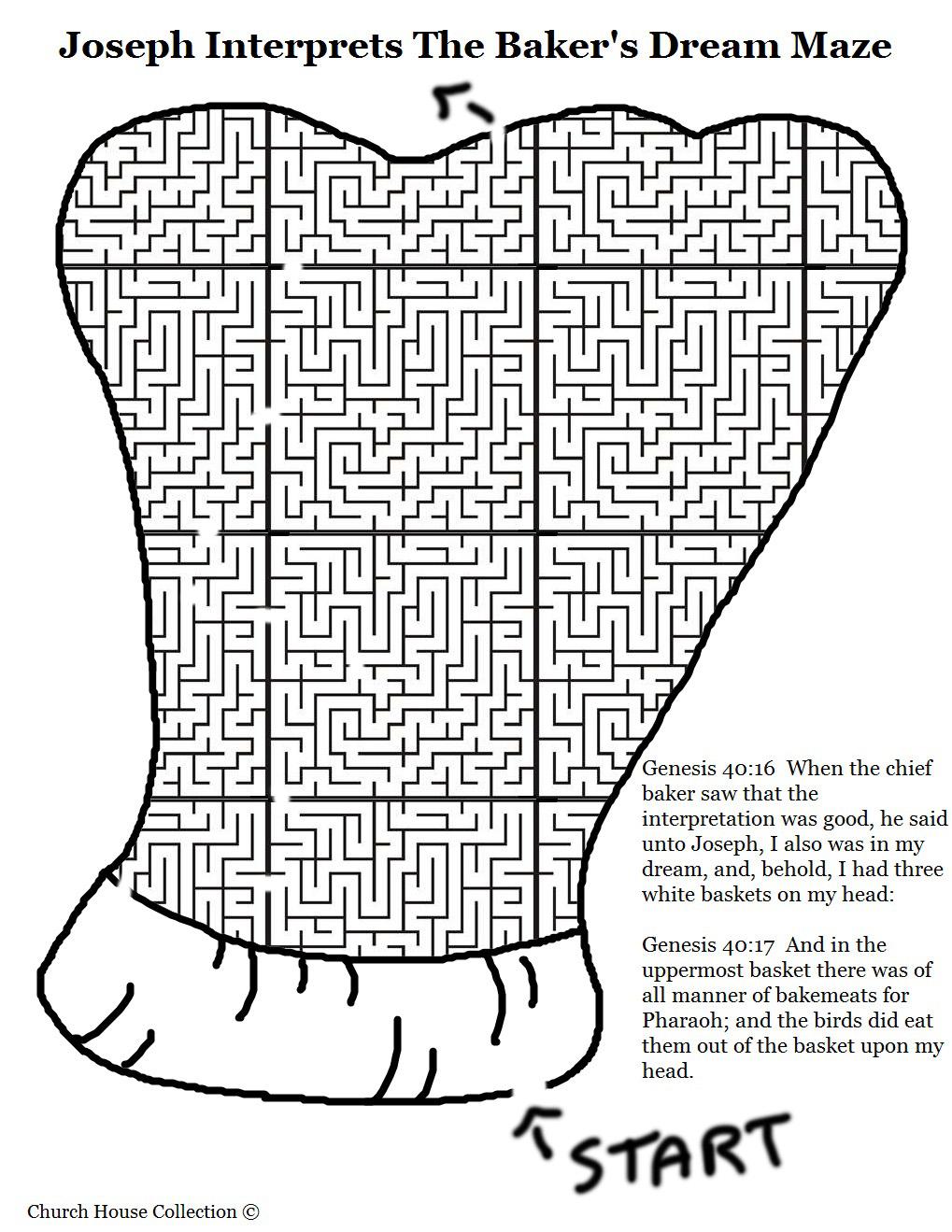 Joseph Interprets The Baker's Dream Hat Maze