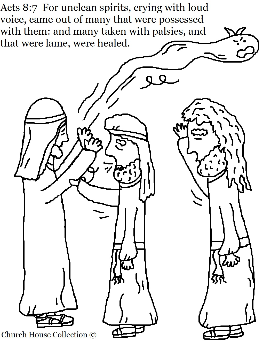 Acts 8:7 Philip Coloring Page