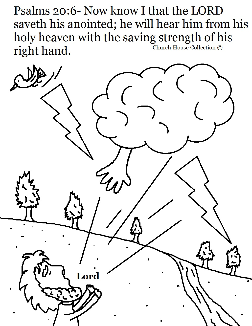 23rd Psalm Coloring Sheet Coloring Pages