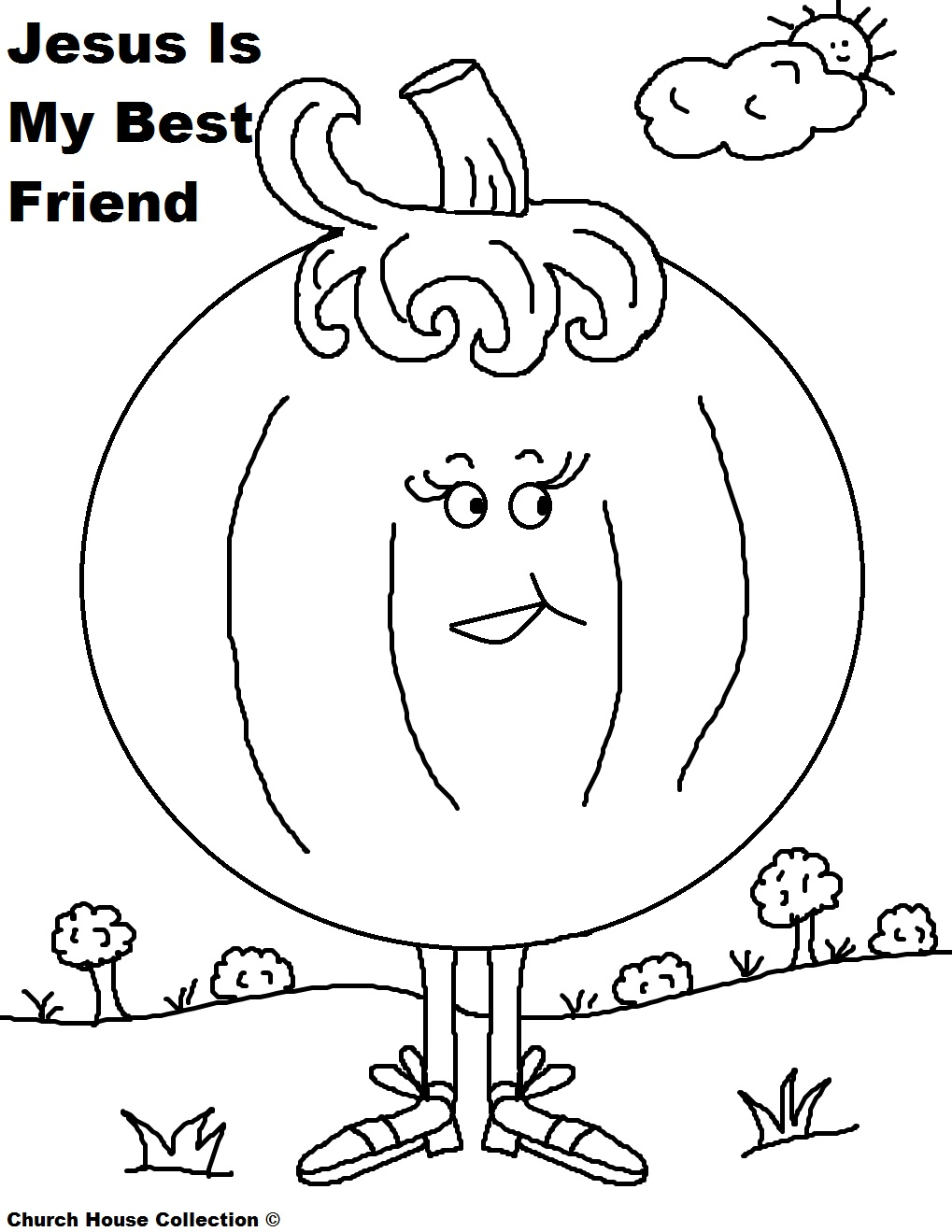 Pumpkin Coloring Page Jesus Is My Best Friend