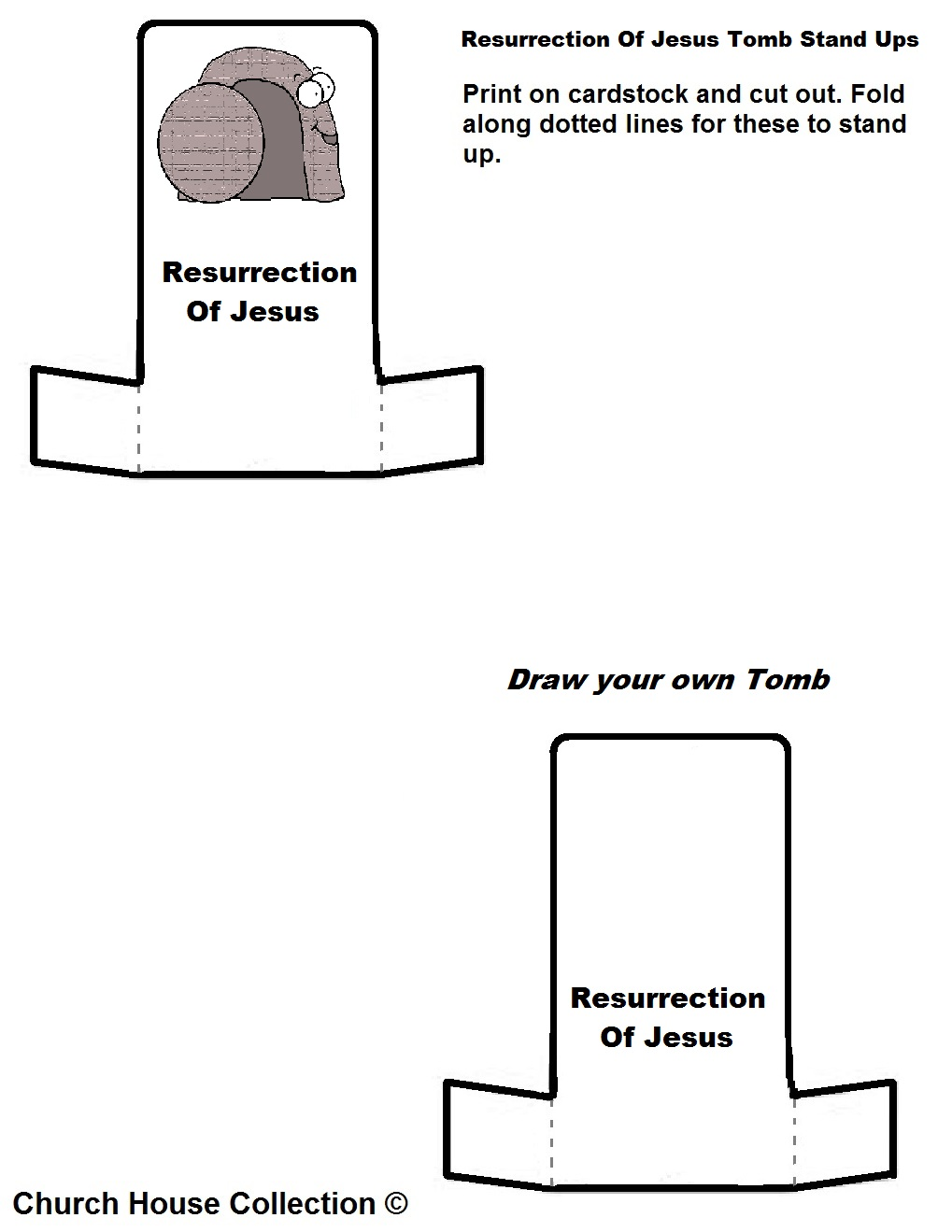 Resurrection Of Jesus Tomb Easter Stand Ups