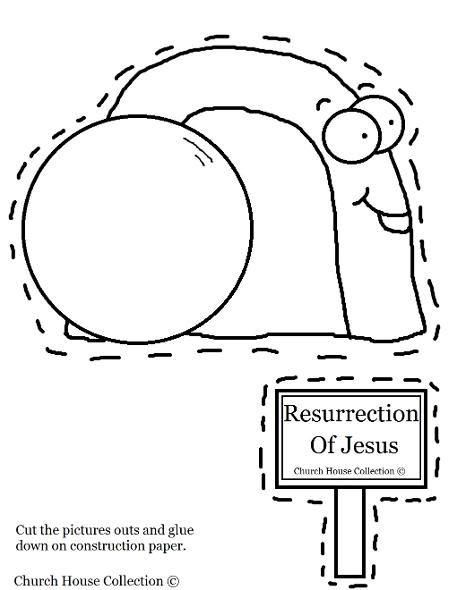 Resurrection Of Jesus Easter Tomb Cut Out Worksheet