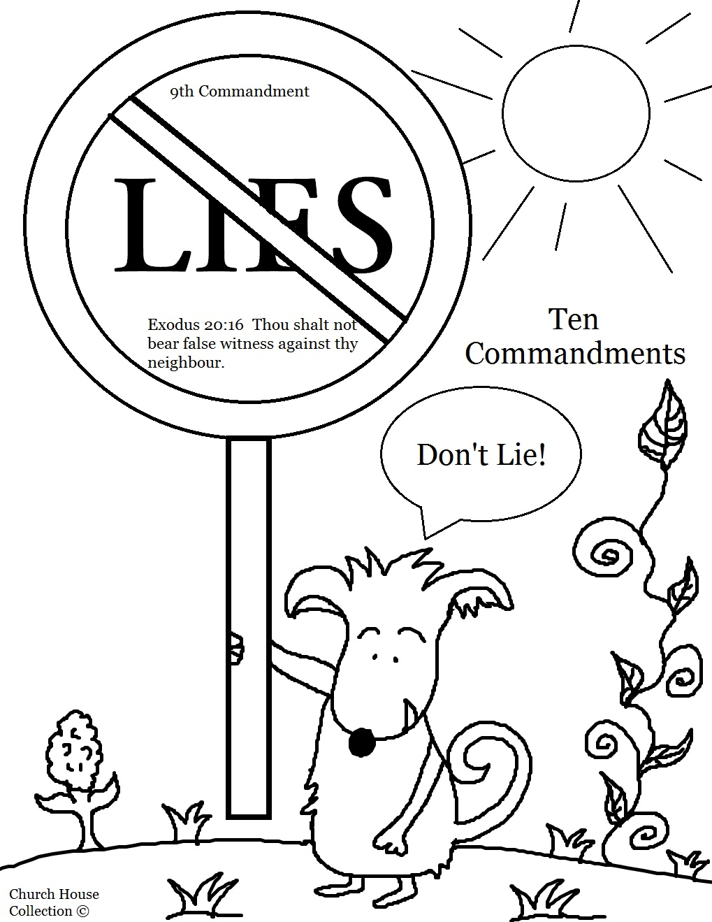 Free the ten commandments coloring pages