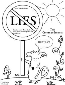 Thou Shalt Not Lie Sunday School Lesson