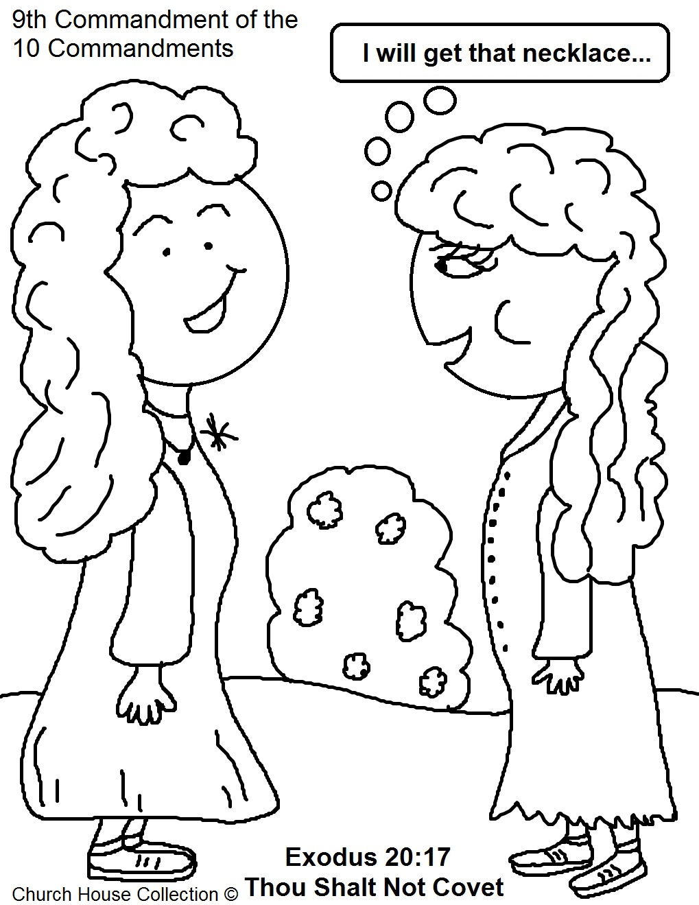 3rd commandment coloring pages