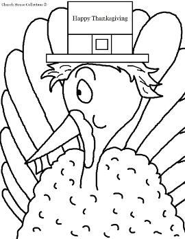 Pilgrim Turkey With Buck Teeth Coloring Page
