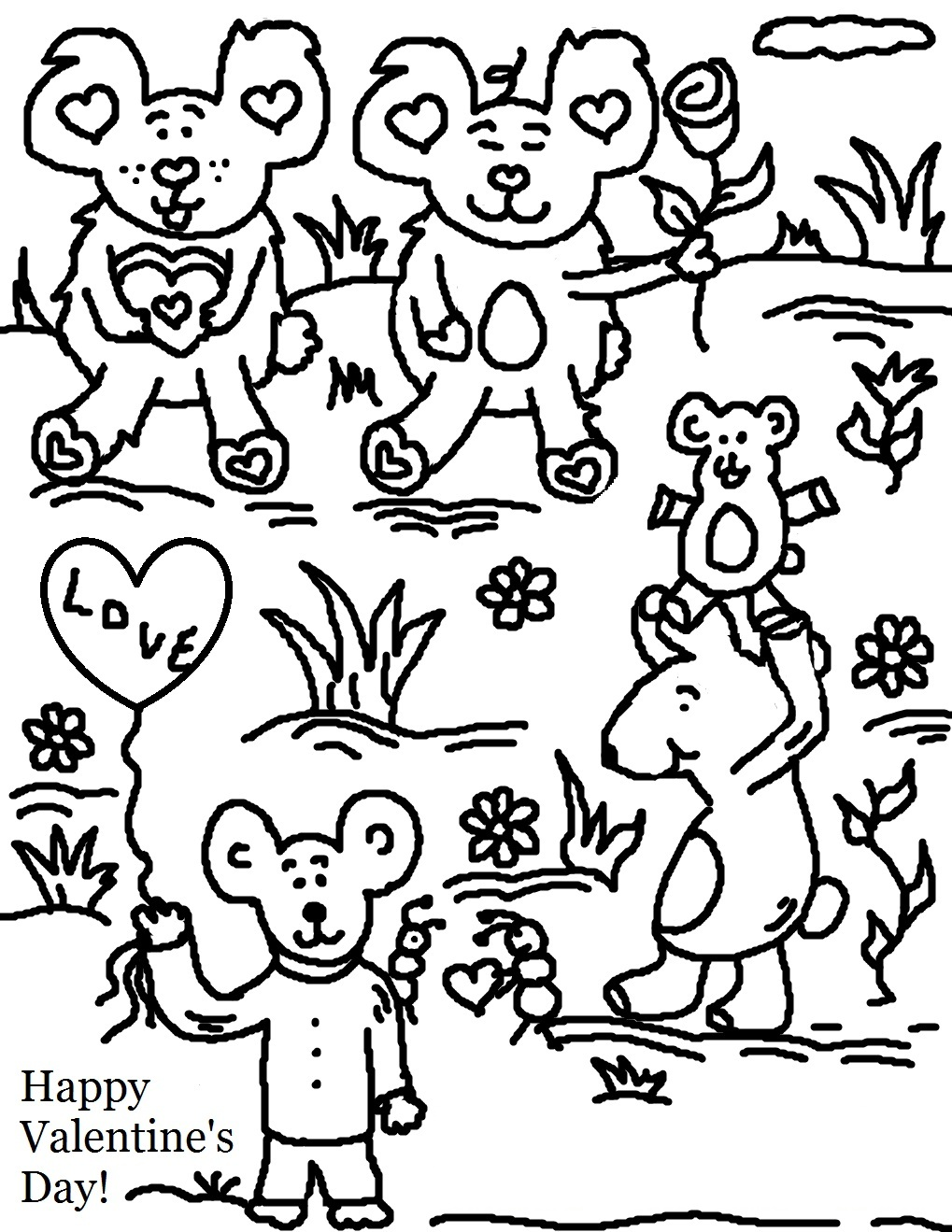 Valentine's Day Coloring Pages For School