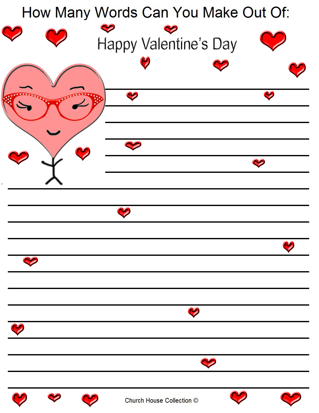 Words How Many Day Are Valentines Word