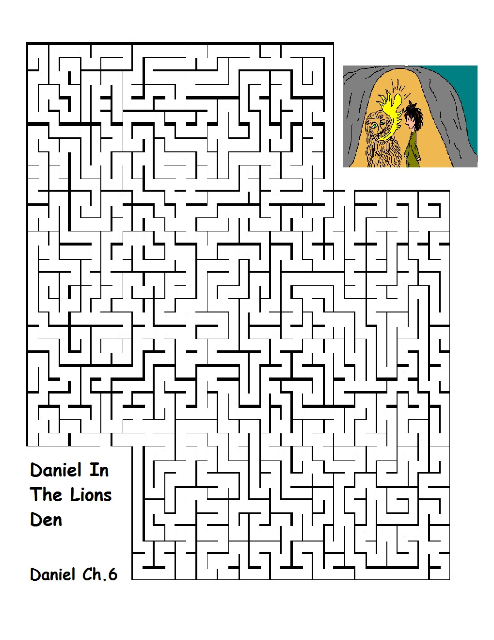Daniel In The Lion's Den Sunday School Lesson