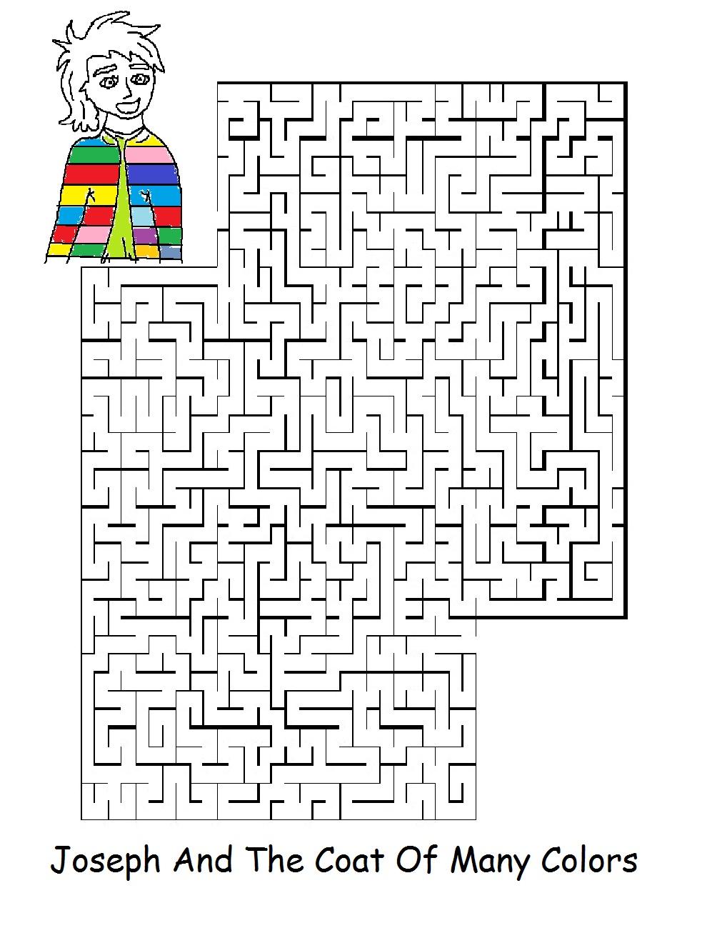 Coloring Page Joseph Coat