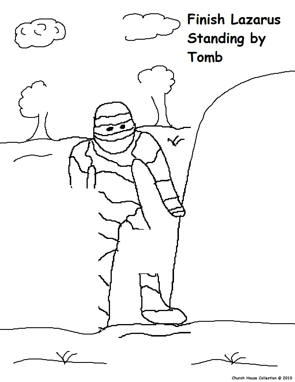 Lazarus Tomb Coloring Page Coloring Pages