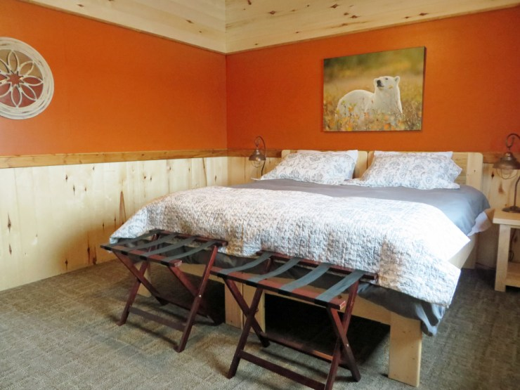 Bedroom at Nanuk Polar Bear Lodge.