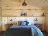 A cozy place to sleep! Bedroom at Seal River Heritage Lodge.