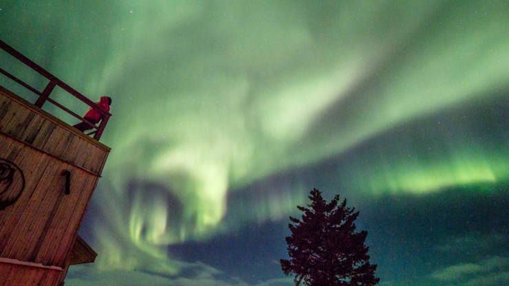 Guides were on call every night to watch for Northern Lights.
