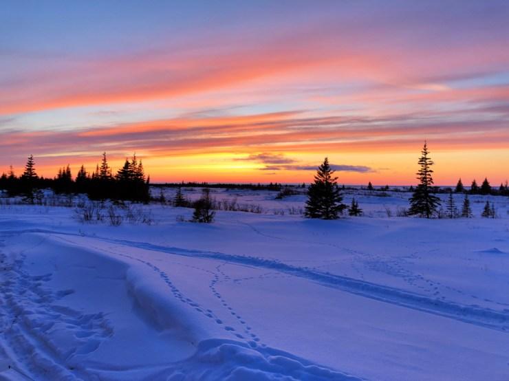 Sunset over the Hudson Bay.