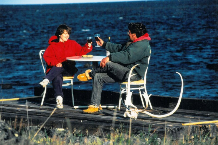 Churchill Wild founders Mike and Jeanne Reimer at Seal River in the early days.