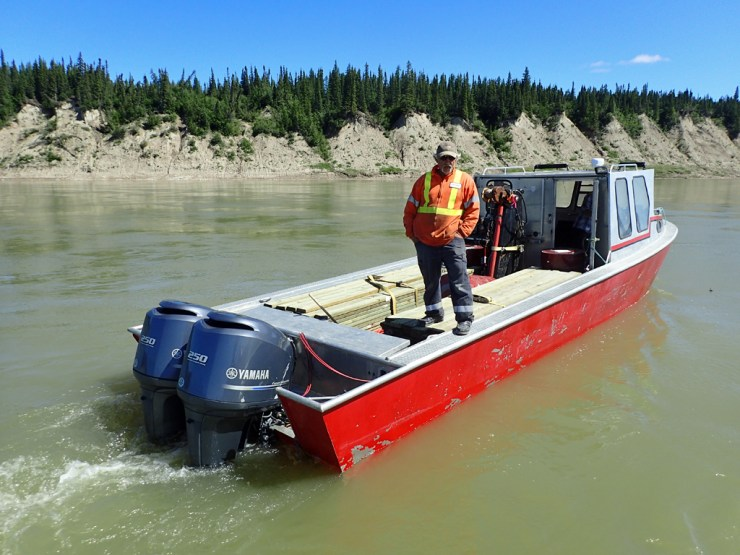 """Peanut Hatley led the way for us on the might Nelson River. And we never """"touched"""" a prop! Wahoo!"""