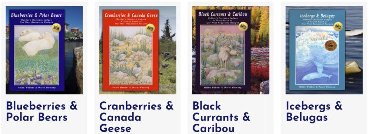 Blueberries & Polar Bears Cookbook Series. Click for more information.