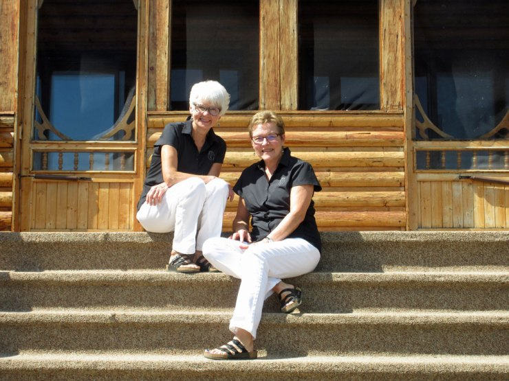 Blueberries & Polar Bears Cookbook Series co-authors Helen Webber (left) and Marie Woolsey at North Knife Lake Lodge.