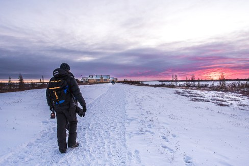 Walking in the fresh air at Dymond Lake Ecolodge. Christine Hayden photo.