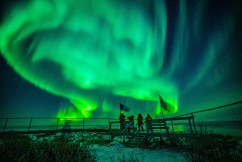Aurora borealis. Seal River Heritage Lodge. Nate Luebbe photo.