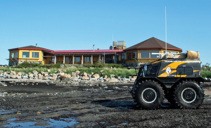 SHERP in front of Seal River Heritage Lodge.