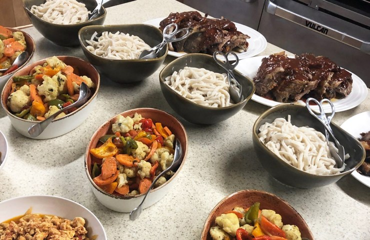An's group helped prepare an authentic Chinese dinner at Nanuk! And it was delicious!