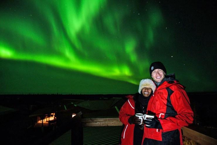 Bright lights. Big smiles. Nanuk Polar Bear Lodge.