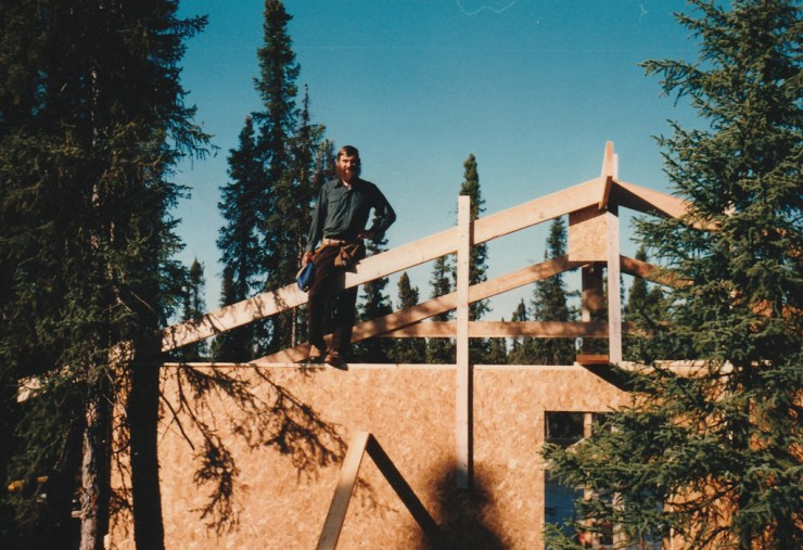 Len Friesen at North Knife Lake Lodge in 1986. Elaine Friesen photo.