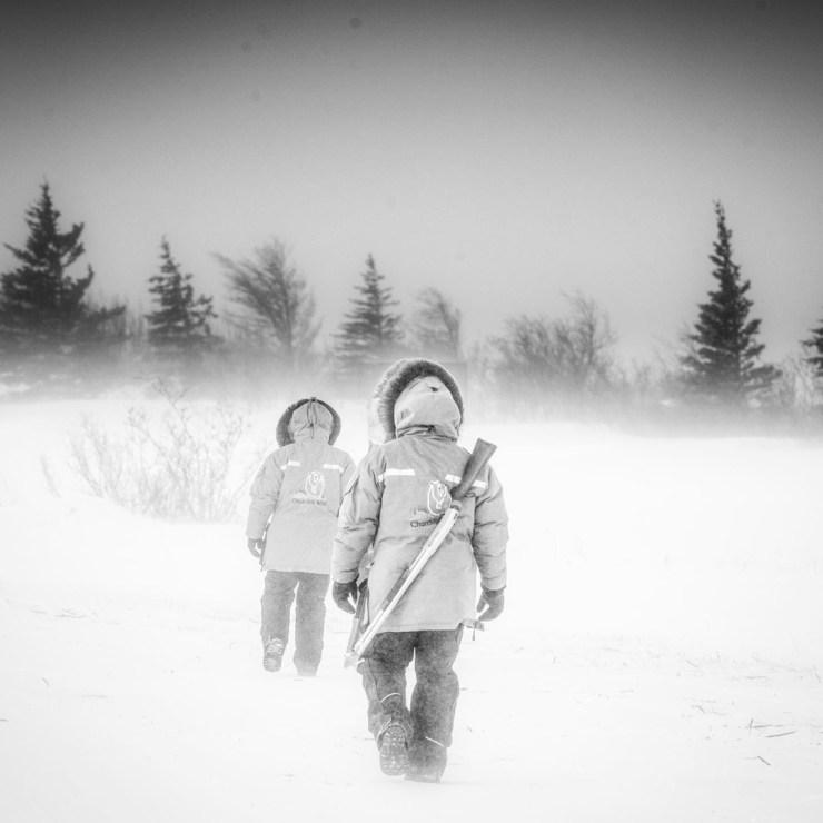 Into the blizzard at Nanuk. Jad Davenport photo