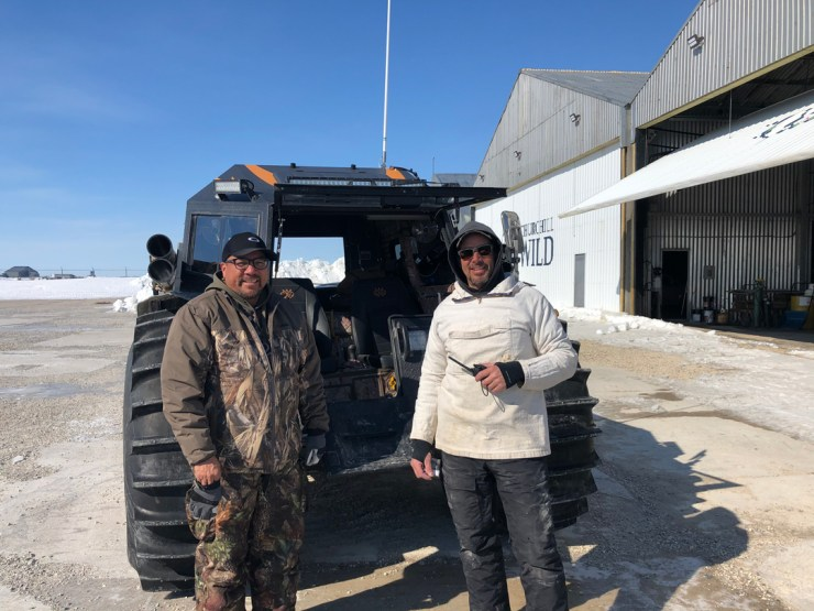 Norm Rabiskah and Kelly Turcotte in Churchill with SHERP.