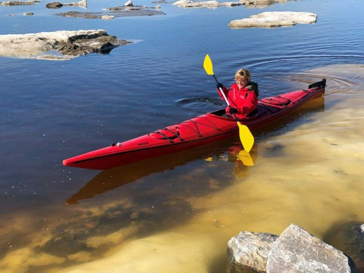 Jeanne Reimer tries sea kayaking on the edge of the world.